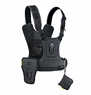 Cotton Carrier Camera Vest  voor 2 camera's met heupholster