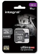 Integral 32GB MicroSDHC -UHS-1 90MB/s.