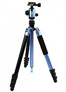Statief met balhoofd en monopod TSK408 blauw