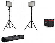 Aputure Amaran 528-KIT CC 2 Lights + Lightstands