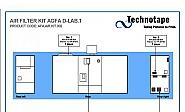 Luchtfilter kit Agfa d-Lab 2/3