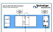 Luchtfilter kit Agfa d-Lab 1