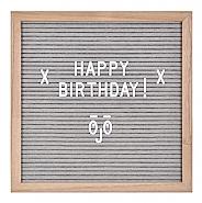 Letter Board Natural Wood Frame & Grey Felt o/a 30.5x30.5x2.5cm (4)