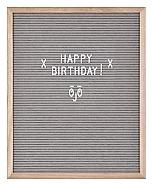 Letter Board Natural Wood Frame & Grey Felt o/a 40.5x51x2.5cm (4)