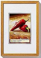 Peppers wooden frame 15x20 Oak