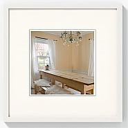 Peppers wooden frame 15x15 polar white
