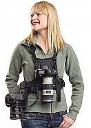 Cotton Carrier Camera Vest  voor 2 camera's met heupholster