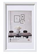 Plastic frame steel style 60x80 white