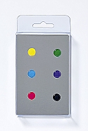 6 Magnets, dots, 6 colours ass.