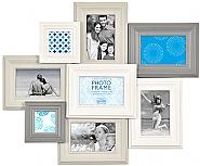 Madeira VI 8 Opening Frame White & Grey o/a 59x52cm (6)