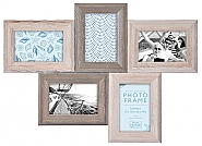 Natural Wood Multi Frame 5x 10x15cm (6)