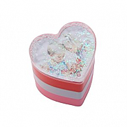 Foto Glitter hartvorm met magneet (12pcs)