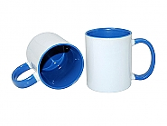 Mug 11oz, inside & handle light Blue (12)