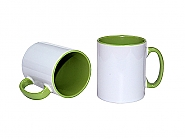 Mug 11oz, inside & handle Light Green (12)