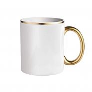 Mug 11oz Handle Gold (12)