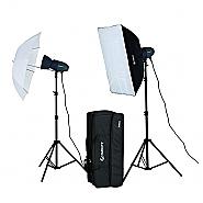 Starblitz Studio flash kit 2x200watt