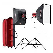 2 x STARFLASH 300 WS Litedome kit + koffer