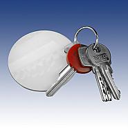 Keychain round in plastic (10)