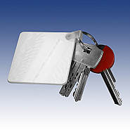 Keychain square in plastic (10)