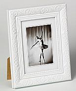 Barock portrait frame, 13x18, white