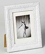 Barock portrait frame, 15x20, white
