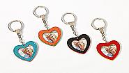 Heart Key Holder 20pcs 4 colors assorted