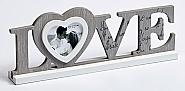 Love portrait frame, 8 x 7,7 cm grey