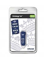 Integral 8GB Xpression USB Flash Drive Keep Calm Blue
