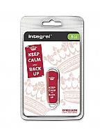 Integral 8GB Xpression USB Flash Drive Keep Calm Red