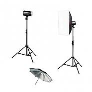 Kit Godox 2 flitsen 160ws + umbrella + softbox