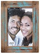 Dupla portrait frame, 20x30 cm, blue