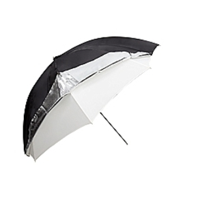 Umbrella 101cm silver/black