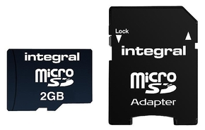 Integral 2GB MicroSDHC - class 4 incl SD adapter