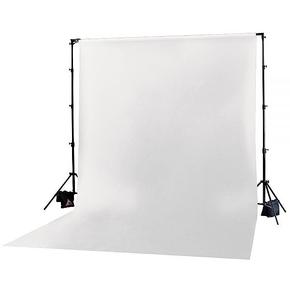 Achtergrond in stof 3m x 3.65m Wit
