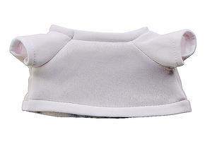 Blanco witte t-shirt voor 21cm knuffels (10)