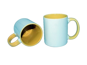 Mug 11oz, inside & handle Yellow (12)