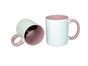 Mug 11oz, inside & handle Pink (12)