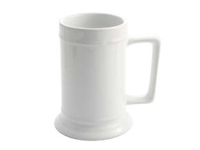 Beer Mug 18oz White (12)