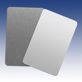 Aluminium visitekaartje zilver 85x54mm (10)