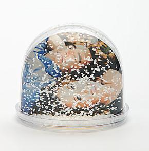Photo Glitter ball 6,5x6   12 pcs met sneeuw