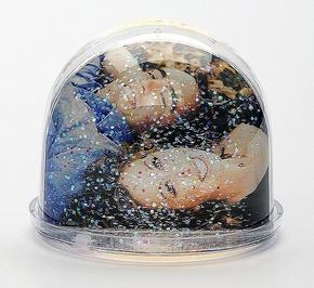 Photo Glitter ball 6,5x6   6 pcs Low