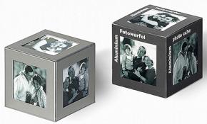 Aluminium photo cube 6 pcs