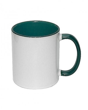 Mug 11oz, inside & handle Dark Green (12)