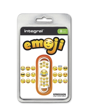 Integral 8GB Xpression USB Flash Drive Keep Emoji