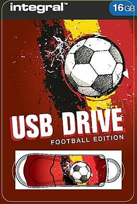 Integral 16GB Red  Devils USB2.0 Flash Drive