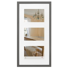Peppers wooden frame 3x 13x18 grey