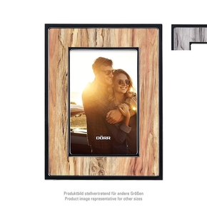Paris plastic frame 15x20 wood brown (4)