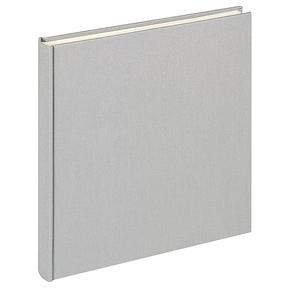 Design album Cloth linen cover 26x25cm grey