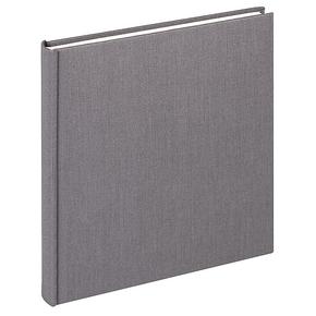 Design album Cloth linen cover 26x25cm anthracit