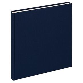 Design album Cloth linen cover 26x25cm dark blue